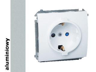Gniazdo ścienne modułowe Classic z/u Schuko MGSZ1.01/26 aluminium srebrny Kontakt Simon