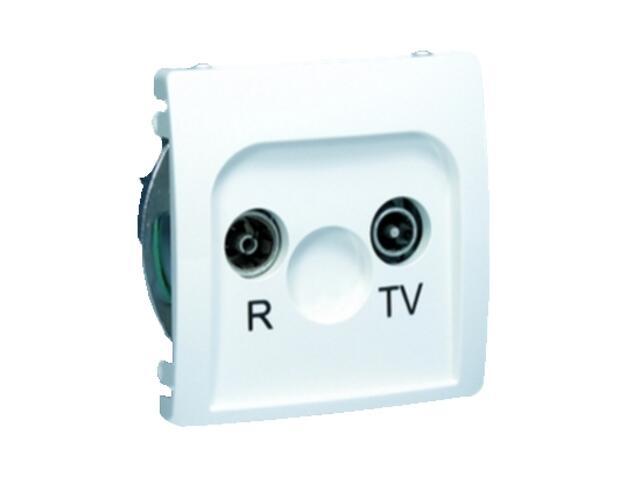 Gniazdo modułowe Basic anten. RTV przelotowe BMZAP14/1.01/11 biały Kontakt Simon
