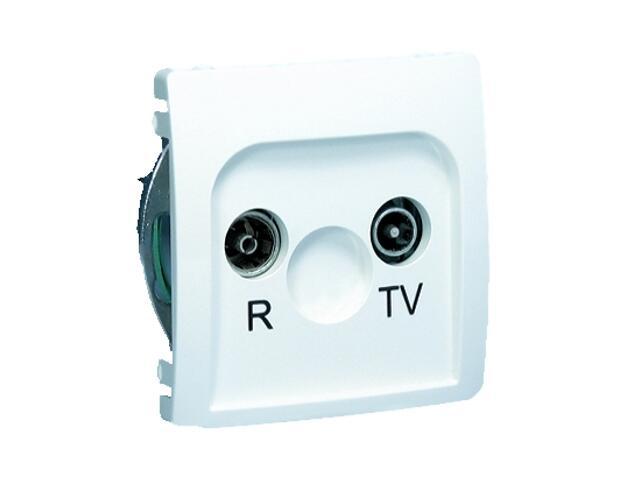 Gniazdo modułowe Basic anten. RTV przelotowe BMZAP10/1.01/11 biały Kontakt Simon