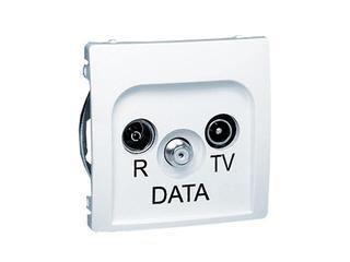Gniazdo RTV modułowe Basic anten. RTV-DATA BMAD.01/11 biały Kontakt Simon
