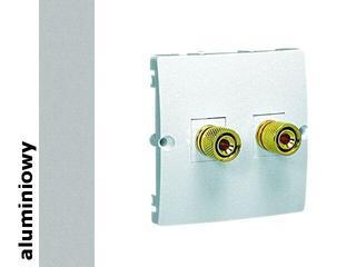 Gniazdo głośnikowe modułowe Classic uniwersalne (moduł) MGL2.02/26 alum. srebrny Kontakt Simon