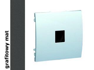 Gniazdo modułowe Classic telef. z ochronnikiem MTO.01/28 matowy grafit Kontakt Simon