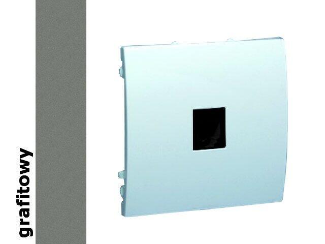 Gniazdo modułowe Classic telef. z ochronnikiem MTO.01/25 grafit Kontakt Simon