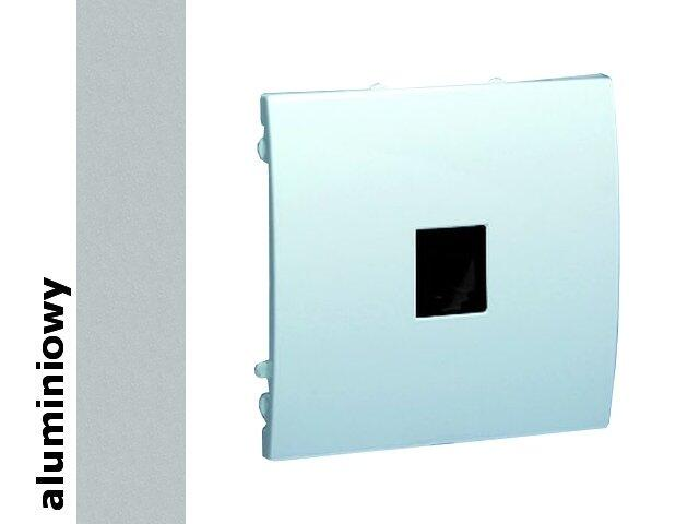 Gniazdo modułowe Classic telef. z ochronnikiem MTO.01/26 aluminium srebrny Kontakt Simon