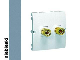 Gniazdo głośnikowe modułowe Classic uniwersalne (moduł) MGL2.02/23 niebieski Kontakt Simon