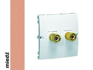 Gniazdo głośnikowe modułowe Classic uniwersalne (moduł) MGL2.02/24 miedź Kontakt Simon