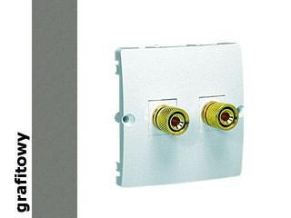 Gniazdo głośnikowe modułowe Classic uniwersalne (moduł) MGL2.02/25 grafit Kontakt Simon