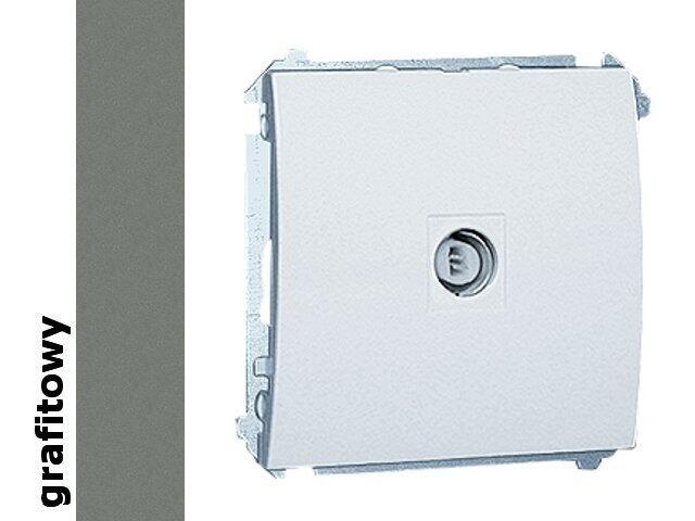 Gniazdo modułowe Classic anten. pojedyncze MAK1.01/25 grafit Kontakt Simon