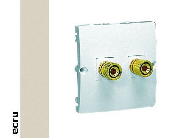 Gniazdo głośnikowe modułowe Classic uniwersalne (moduł) MGL2.02/10 ecru Kontakt Simon