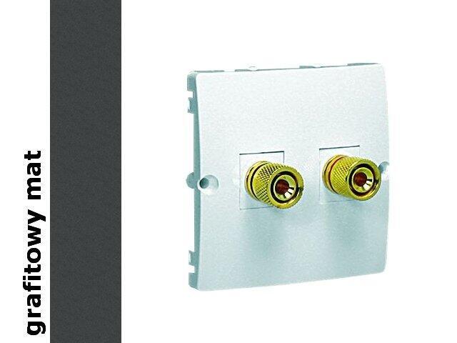 Gniazdo głośnikowe modułowe Classic uniwersalne (moduł) MGL2.02/28 matowy grafit Kontakt Simon