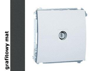Gniazdo modułowe Classic anten. pojedyncze MAK1.01/28 matowy grafit Kontakt Simon