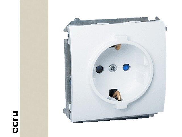 Gniazdo ścienne modułowe Classic z/u Schuko MGSZ1.01/10 ecru Kontakt Simon