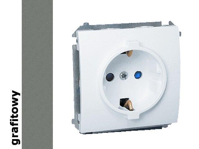 Gniazdo ścienne modułowe Classic z/u Schuko MGSZ1.01/25 grafit Kontakt Simon