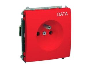 Gniazdo ścienne modułowe Basic Data z/u z piktogramem BMGZD.01/22 czerwony Kontakt Simon