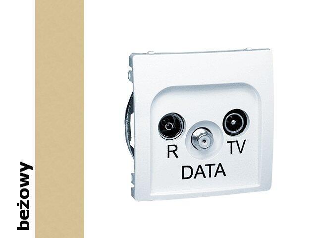 Gniazdo ścienne Basic anten. RTV-DATA BMAD.01/12 beżowy Kontakt Simon