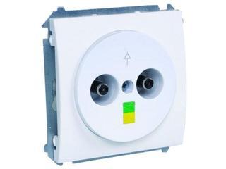 Gniazdo ścienne modułowe Classic ekwipotencjalne MGE.01/11 biały Kontakt Simon