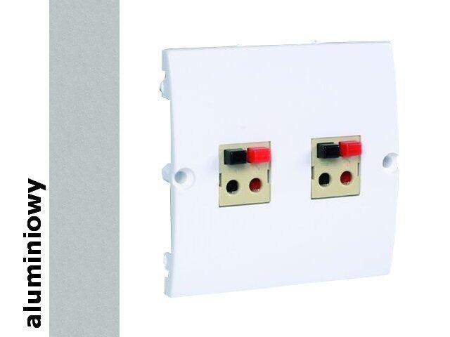 Gniazdo głośnikowe modułowe Classic podwójne (moduł) MGLP2.02/26 alum. srebrny Kontakt Simon