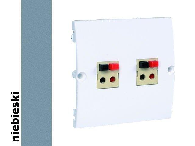 Gniazdo głośnikowe modułowe Classic podwójne bezśr. (moduł) MGLP2.02/23 niebieski Kontakt Simon