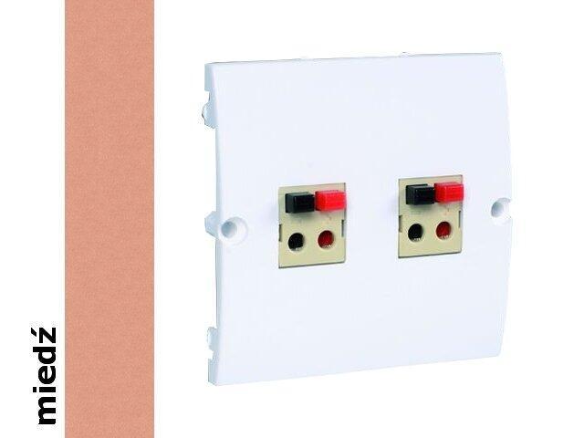 Gniazdo głośnikowe modułowe Classic podwójne bezśrubowe (moduł) MGLP2.02/24 miedź Kontakt Simon