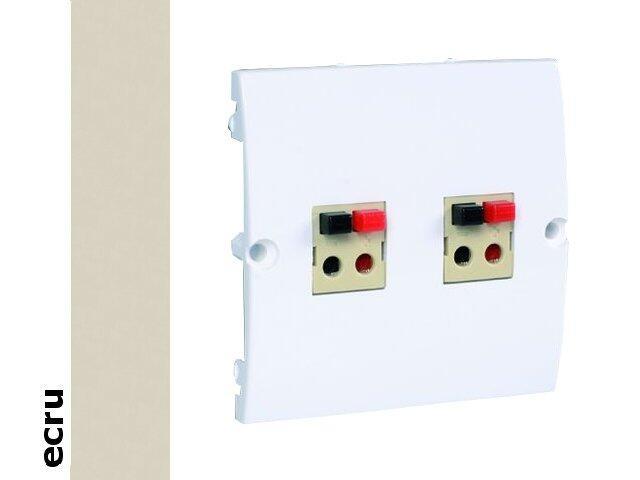 Gniazdo głośnikowe modułowe Classic podwójne bezśrubowe (moduł) MGLP2.02/10 ecru Kontakt Simon