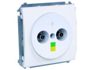 Gniazdo ścienne modułowe Basic ekwipotencjalne BMGE.01/11 biały Kontakt Simon
