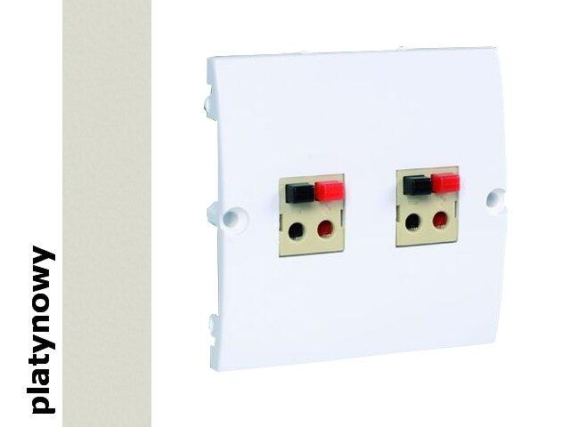 Gniazdo głośnikowe modułowe Classic podwójne bezśr. (moduł) MGLP2.02/27 platynowy Kontakt Simon