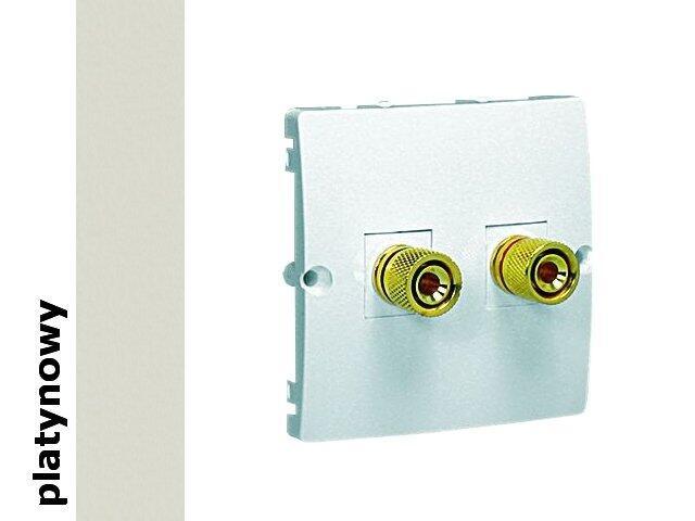 Gniazdo głośnikowe modułowe Classic uniwersalne (moduł) MGL2.02/27 platynowy Kontakt Simon