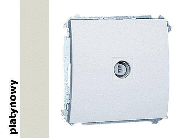Gniazdo modułowe Classic anten. pojedyncze MAK1.01/27 platynowy Kontakt Simon