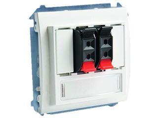 Gniazdo głośnikowe modułowe Classic (moduł) MGL3.01/11 biały Kontakt Simon