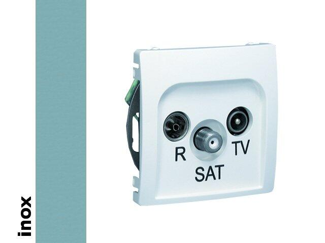 Gniazdo modułowe Basic anten. RTV-SAT końcowe BMZAR-SAT1.3/1.01/21 inox Kontakt Simon
