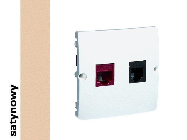 Gniazdo modułowe Basic komputerowe RJ45+telef. RJ11 BMF5T.02/29 satynowy Kontakt Simon