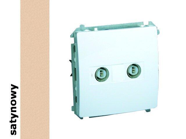 Gniazdo modułowe Basic anten. podwójne końcowe BMAK2.01/29 satynowy Kontakt Simon
