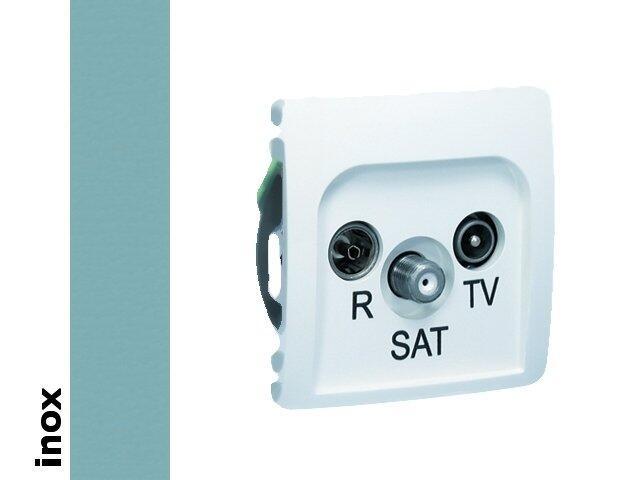 Gniazdo modułowe Basic anten. RTV-SAT przelotowe BMZAR-SAT10/P.01/21 inox Kontakt Simon