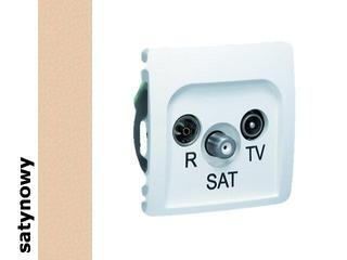 Gniazdo modułowe Basic RTV-SAT przelotowe BMZAR-SAT10/P.01/29 satynowy Kontakt Simon