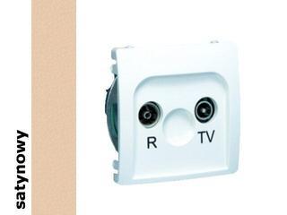 Gniazdo modułowe Basic anten. RTV przelotowe BMZAP14/1.01/29 satynowy Kontakt Simon