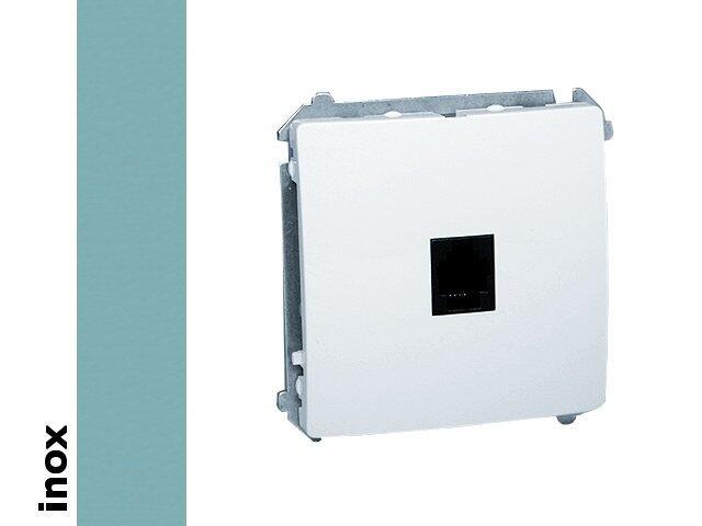 Gniazdo modułowe Basic telef. uniwersalne BMTU.01/21 inox Kontakt Simon