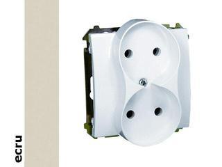 Gniazdo ścienne modułowe Basic podwójne b/u BMG2M.01/10 ecru Kontakt Simon