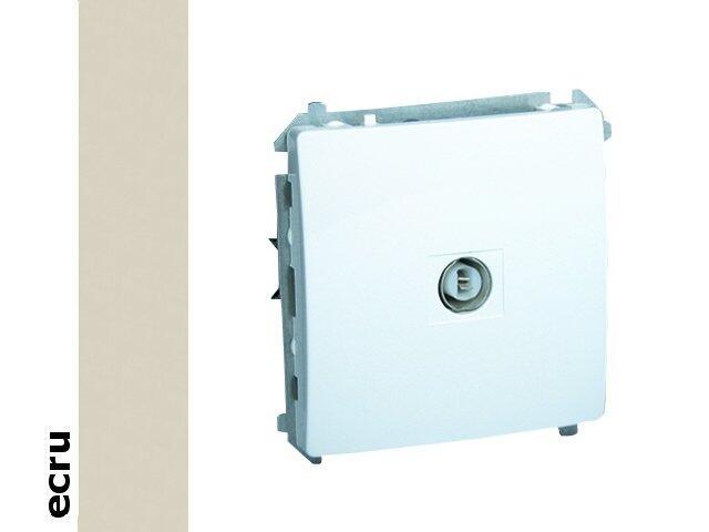 Gniazdo modułowe Basic anten. pojedyncze BMAK1.01/10 ecru Kontakt Simon