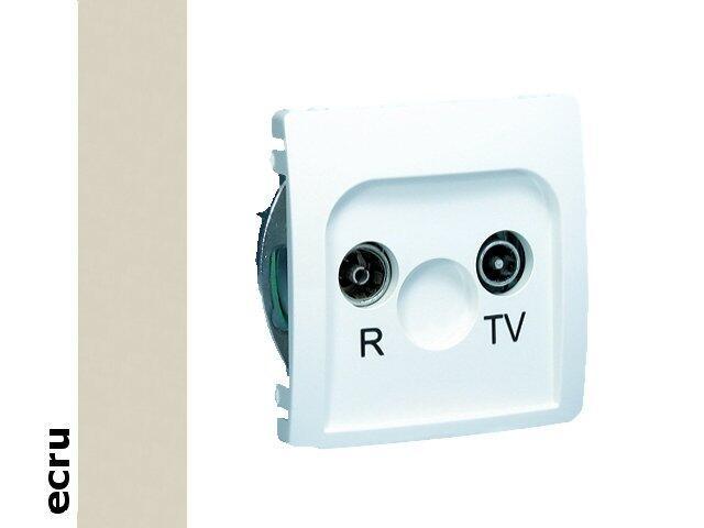 Gniazdo modułowe Basic anten. RTV przelotowe BMZAP10/1.01/10 ecru Kontakt Simon