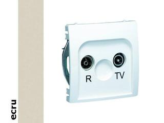 Gniazdo modułowe Basic anten. RTV przelotowe BMZAP23/1.01/10 ecru Kontakt Simon