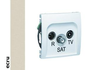 Gniazdo modułowe Basic anten. RTV-SAT końcowe BMZAR-SAT1.3/1.01/10 ecru Kontakt Simon