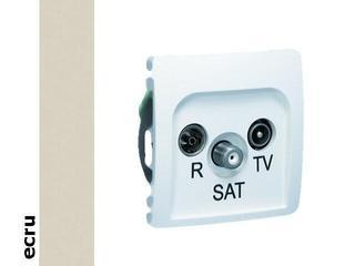 Gniazdo modułowe Basic anten. RTV-SAT przelotowe BMZAR-SAT10/P.01/10 ecru Kontakt Simon