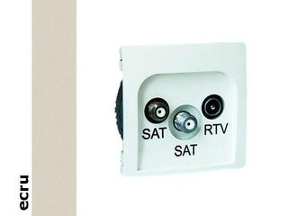Gniazdo ścienne Basic anten. SAT/SAT/RTV końcowe BMZAR+SAT3.1-P2.01/10 ecru Kontakt Simon