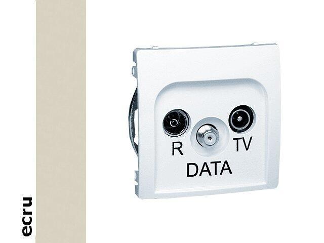 Gniazdo ścienne Basic anten. RTV-DATA BMAD.01/10 ecru Kontakt Simon