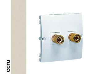 Gniazdo głośnikowe modułowe Basic (moduł) BMGL2.02/10 ecru Kontakt Simon