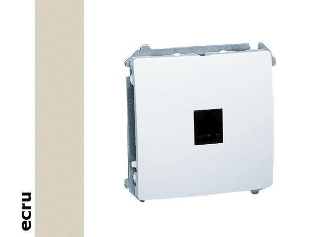 Gniazdo modułowe Basic telef. uniwersalne BMTU.01/10 ecru Kontakt Simon
