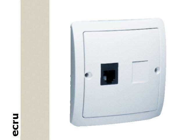 Gniazdo modułowe Basic telef. RJ11 pojedyncze BMTF1.02/10 ecru Kontakt Simon