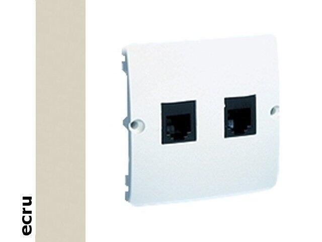 Gniazdo modułowe Basic telef. RJ11 podwójne BMTF2.02/10 ecru Kontakt Simon