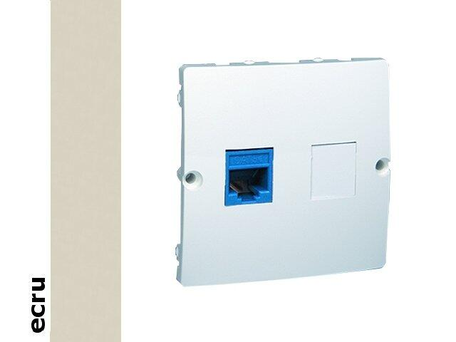 Gniazdo modułowe Basic telef. RJ12 pojedyncze BMT1.02/10 ecru Kontakt Simon