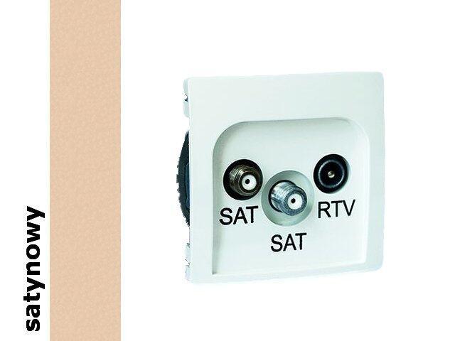 Gniazdo ścienne Basic anten. SAT/SAT/RTV końcowe BMZAR+SAT3.1-P2.01/29 satynowy Kontakt Simon